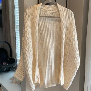 LA Hearts cream grandma cardigan